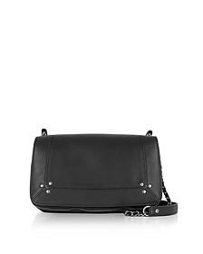Bobi Black Leather Shoulder Bag - Jerome Dreyfuss