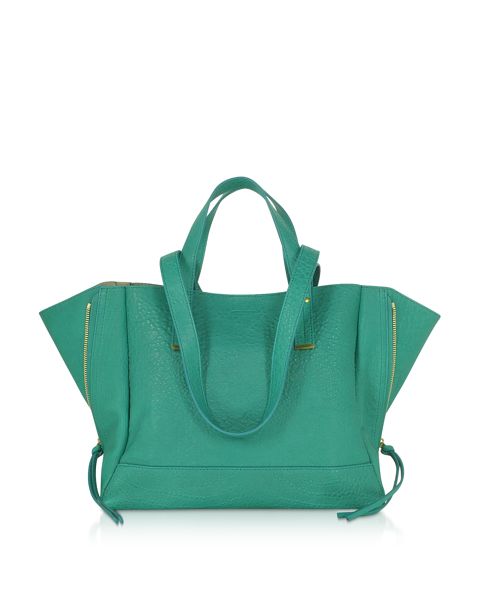 Georges M Lagon Leather Tote Bag