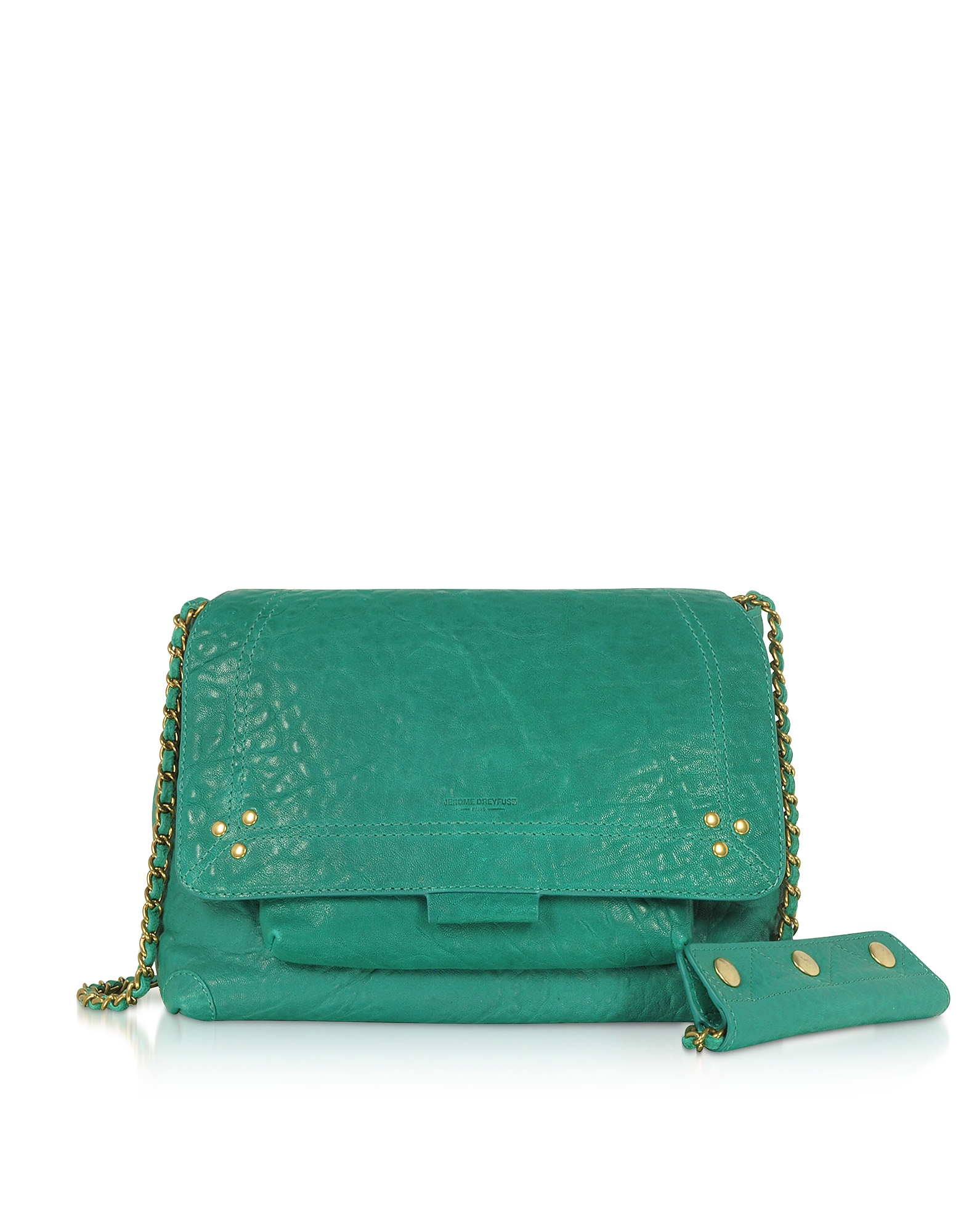 Lulu M Lagoon Leather Shoulder Bag