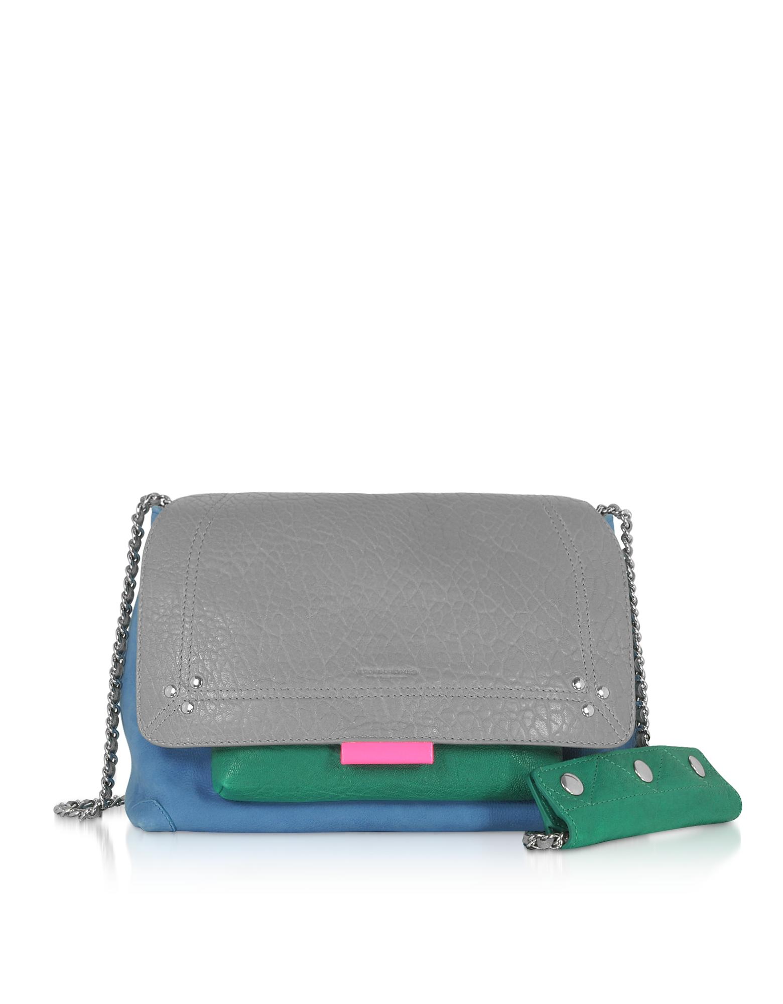 Lulu M Leather Shoulder Bag