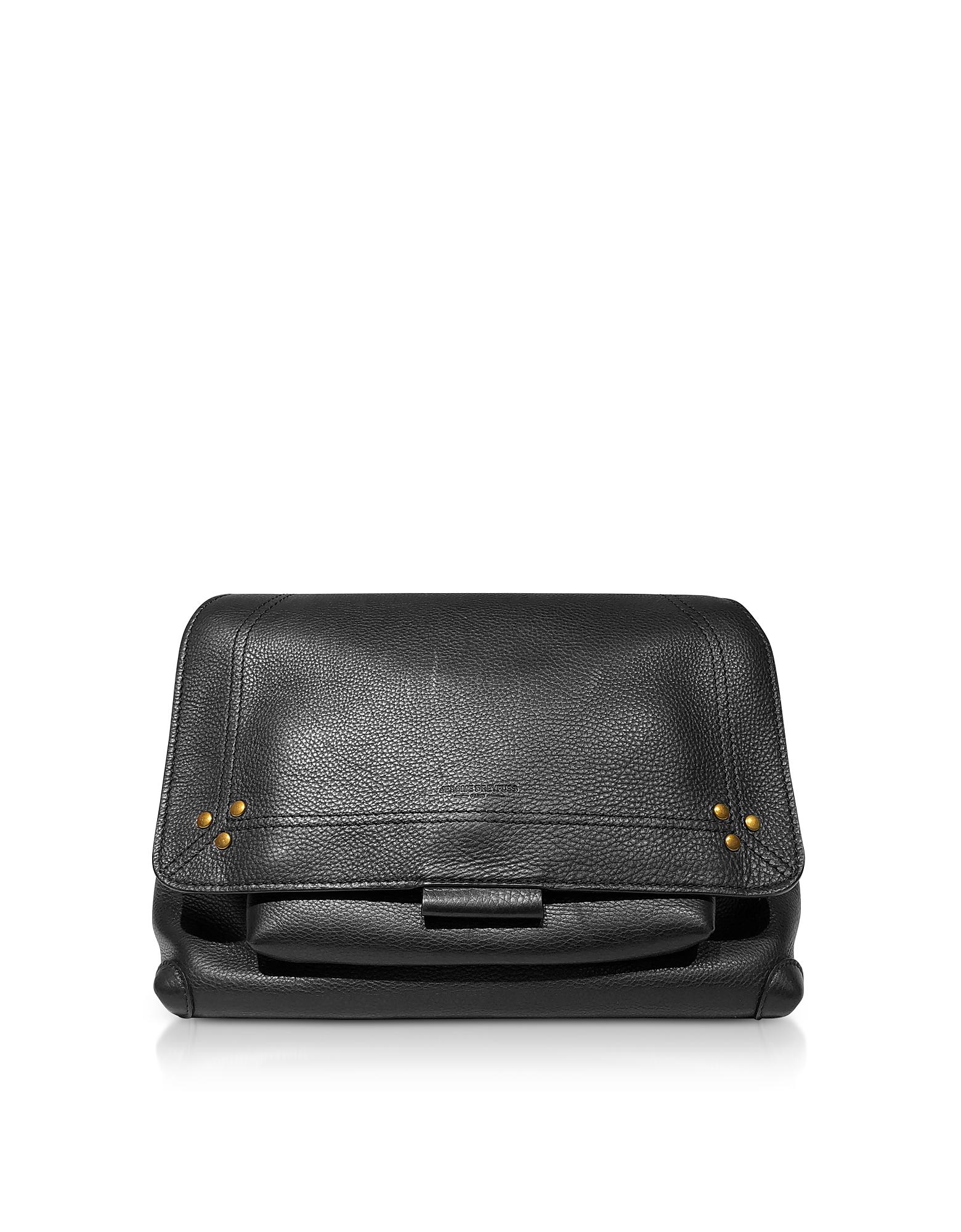 Lulu M Black Leather Shoulder Bag
