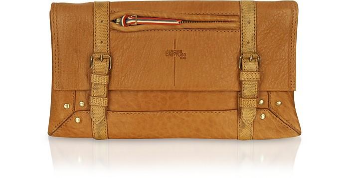 Leon - Brown Leather Clutch - Jerome Dreyfuss