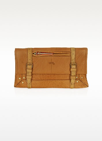 Leon - Brown Leather Clutch - Jerome Dreyfuss