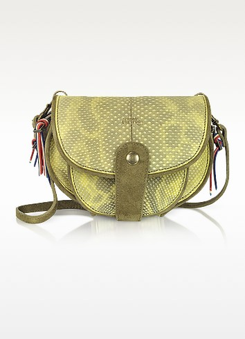 Momo Caviar - Karung Leather Saddle Bag w/Detachable Wallet - Jerome Dreyfuss