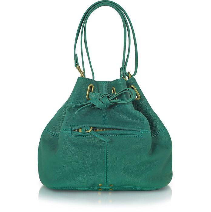 Alain S - Emerald Green Leather Shoulder Bag - Jerome Dreyfuss