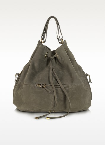 AlaAlian Vert De Gris Goatskin Bucket/Shoulder Bag - Jerome Dreyfuss