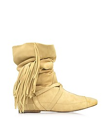 Arizona Sand Suede Fringed Boot - Jerome Dreyfuss