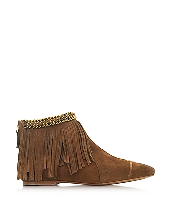Francoise Date Suede Low Boot w/Fringe