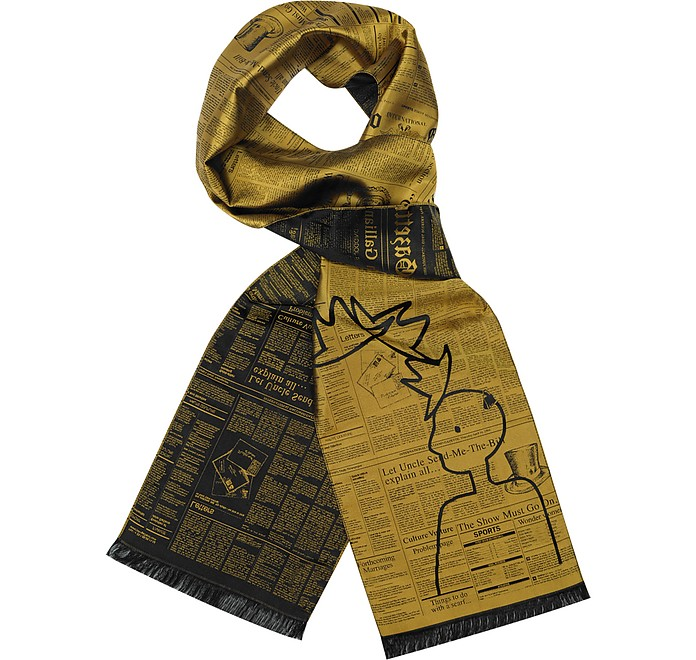 Woven Silk Long Scarf - John Galliano
