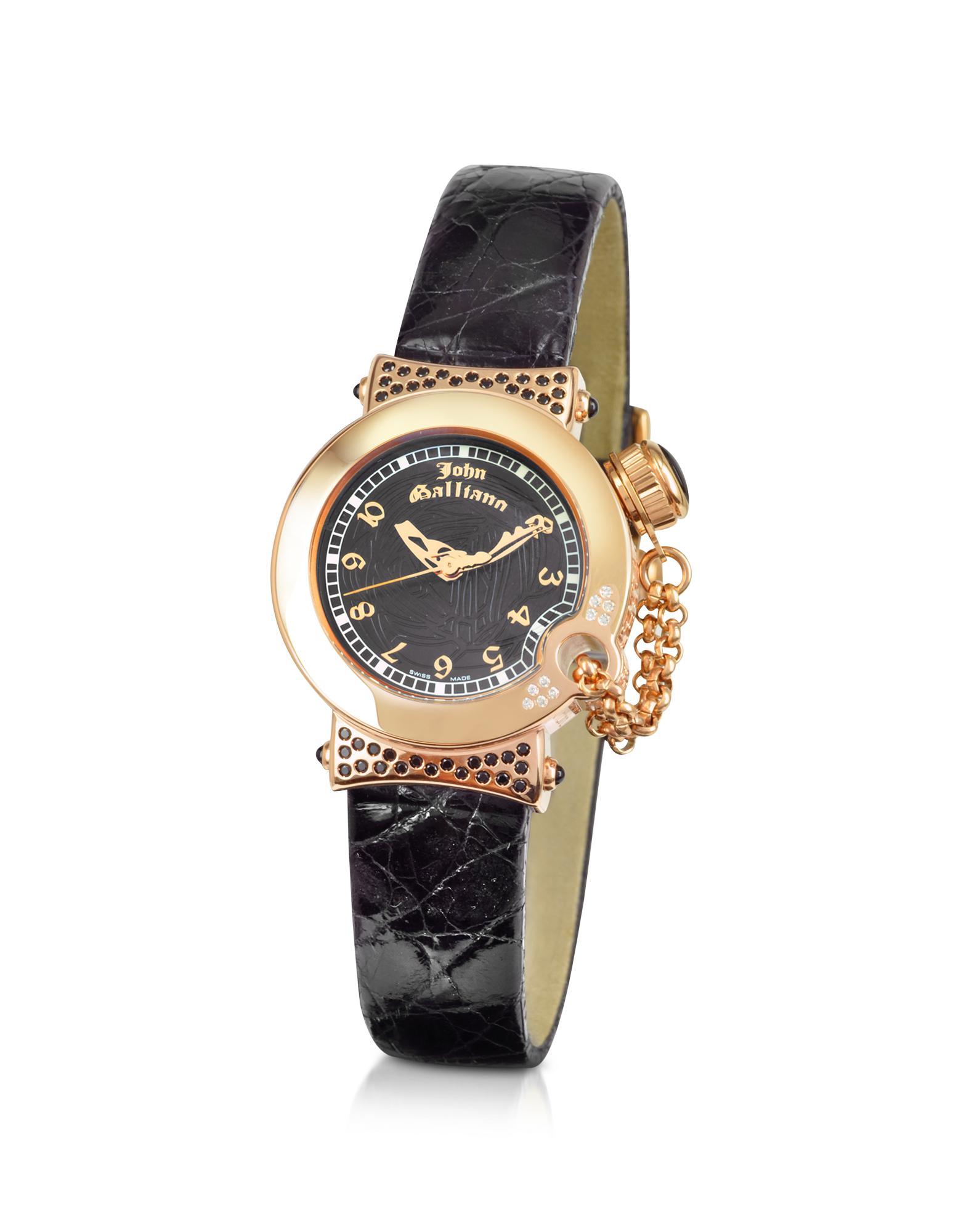 John Galliano  L'Elu - Ladies' Diamond Gold Plated Dress Watch