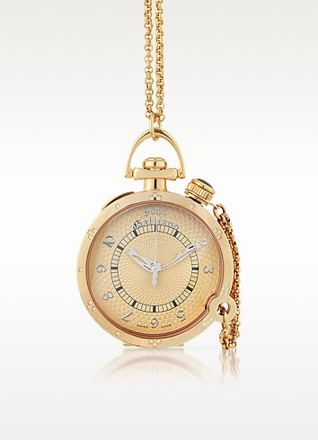 L'Elu 3H - Women's Diamond Rose Gold Plated Watch w/ Chain - John Galliano