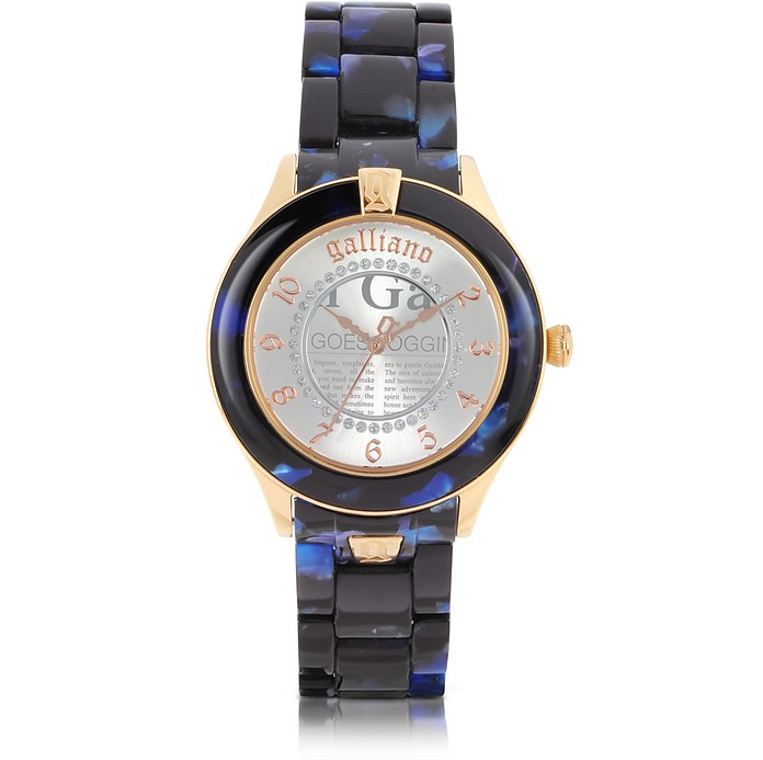 Pictural Stainless Steel and Resin Women's Watch - John Galliano