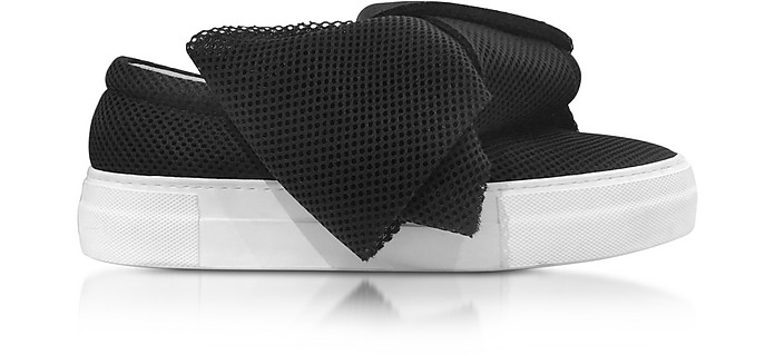 Black AT Fabric Bow Slip-on Sneaker  - Joshua Sanders