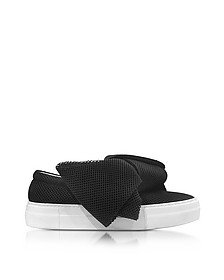 Black AT Fabric Bow Slip-on Sneaker  - Joshua Sanders