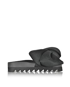 Black AT Fabric Bow Slide - Joshua Sanders