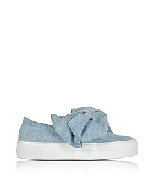 Azure Denim Bow Slip-on Sneaker - Joshua Sanders