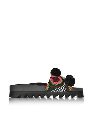Namibia Multicolor Fabric Slide-On Sandal