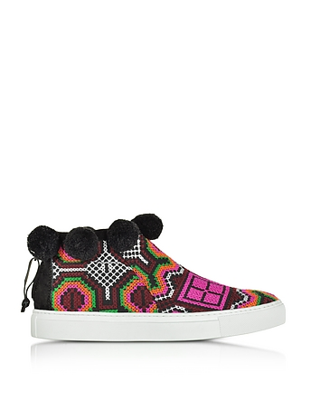 Joshua Sanders - Namibia Multicolor Fabric High Top Sneaker
