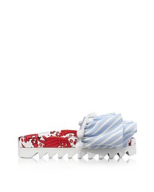 Lobster Embroidery Multicolor Fabric Slide - Joshua Sanders