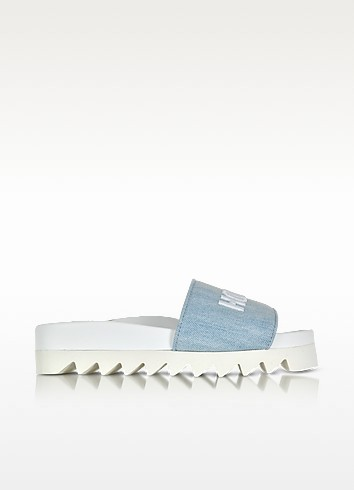 Hollywood Sign Denim Slide - Joshua Sanders