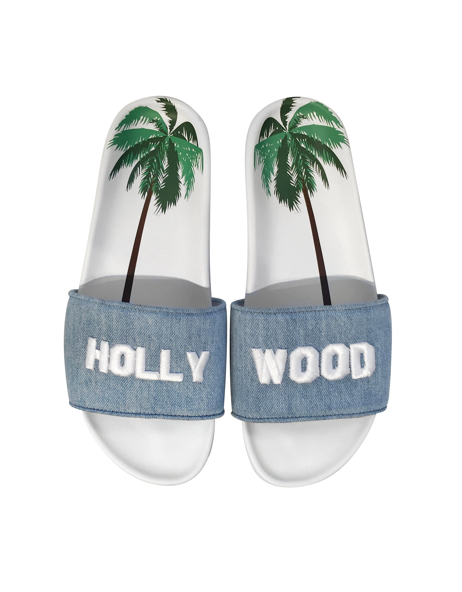 Hollywood Sign Denim Slide от Forzieri.com INT