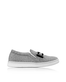 Cara Grey Fabric Slip-on Sneaker - Joshua Sanders