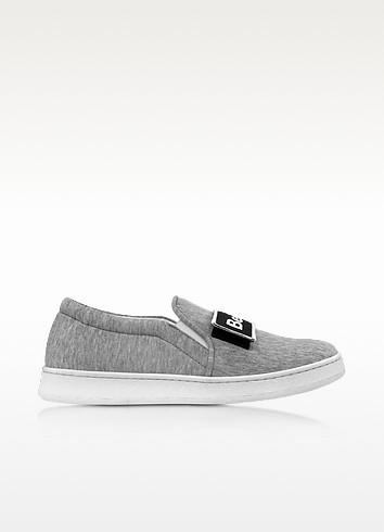Cara Grey Fabric Slip-on Sneaker - Joshua Sanders