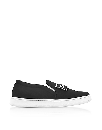 Joshua Sanders - Naomi Black Fabric Slip-on Sneaker