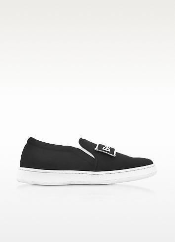 Naomi Black Fabric Slip-on Sneaker - Joshua Sanders
