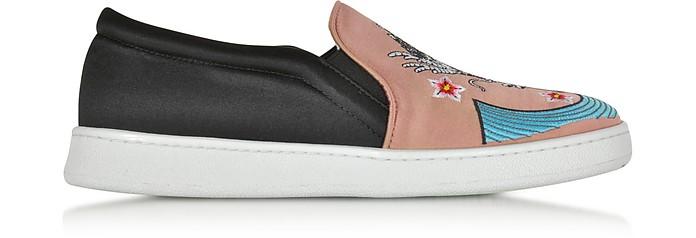Dragon Multicolor Fabric Slip-on Sneaker - Joshua Sanders