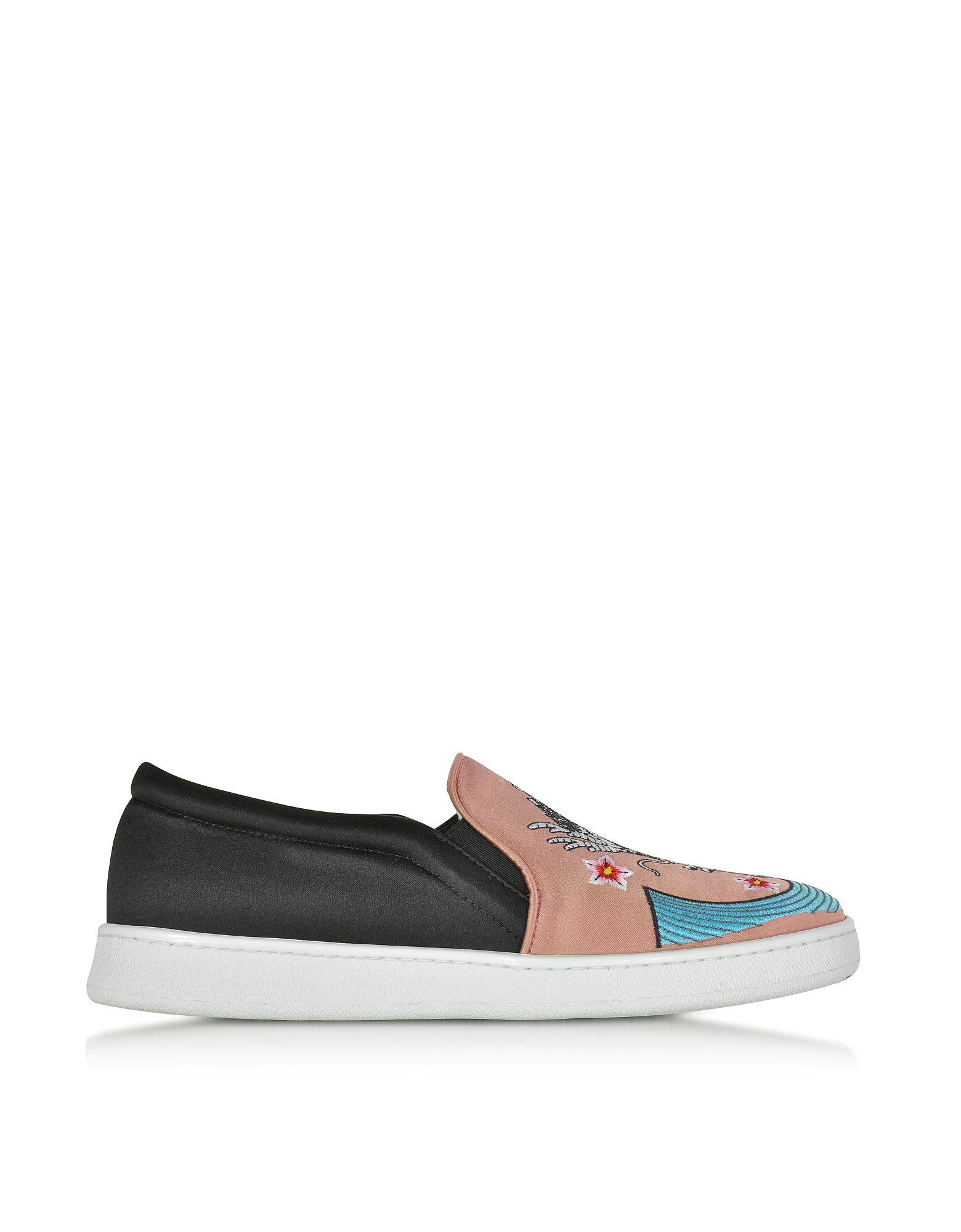 Joshua Sanders Shoes, Dragon Multicolor Fabric Slip-on Sneaker