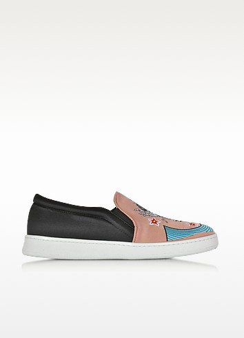 Dragon Multicolor Fabric Slip-on Sneaker - Joshua Sanders