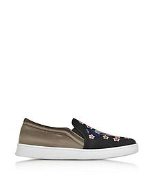Peacock Multicolor Fabric Slip-on Sneaker - Joshua Sanders