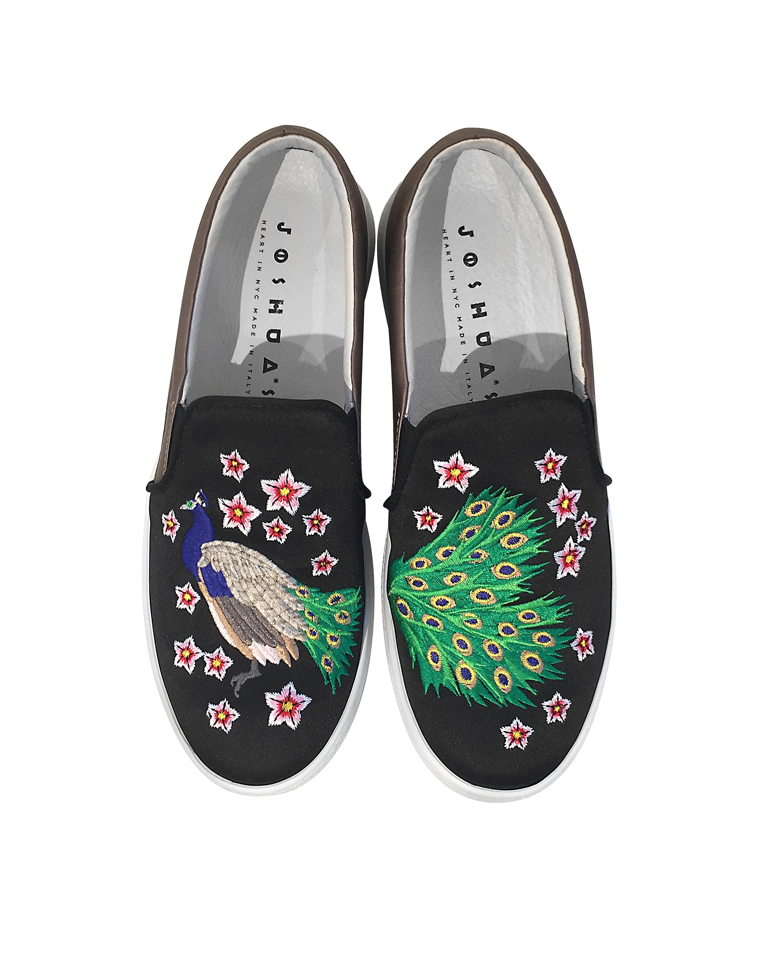 Peacock Multicolor Fabric Slip-on Sneaker от Forzieri.com INT