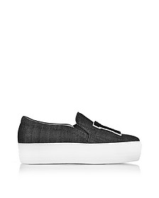 Sneaker Slip on in Denim Nero LA - Joshua Sanders
