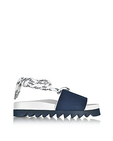 Blue Canvas Sailor Flatform Sandals - Joshua Sanders