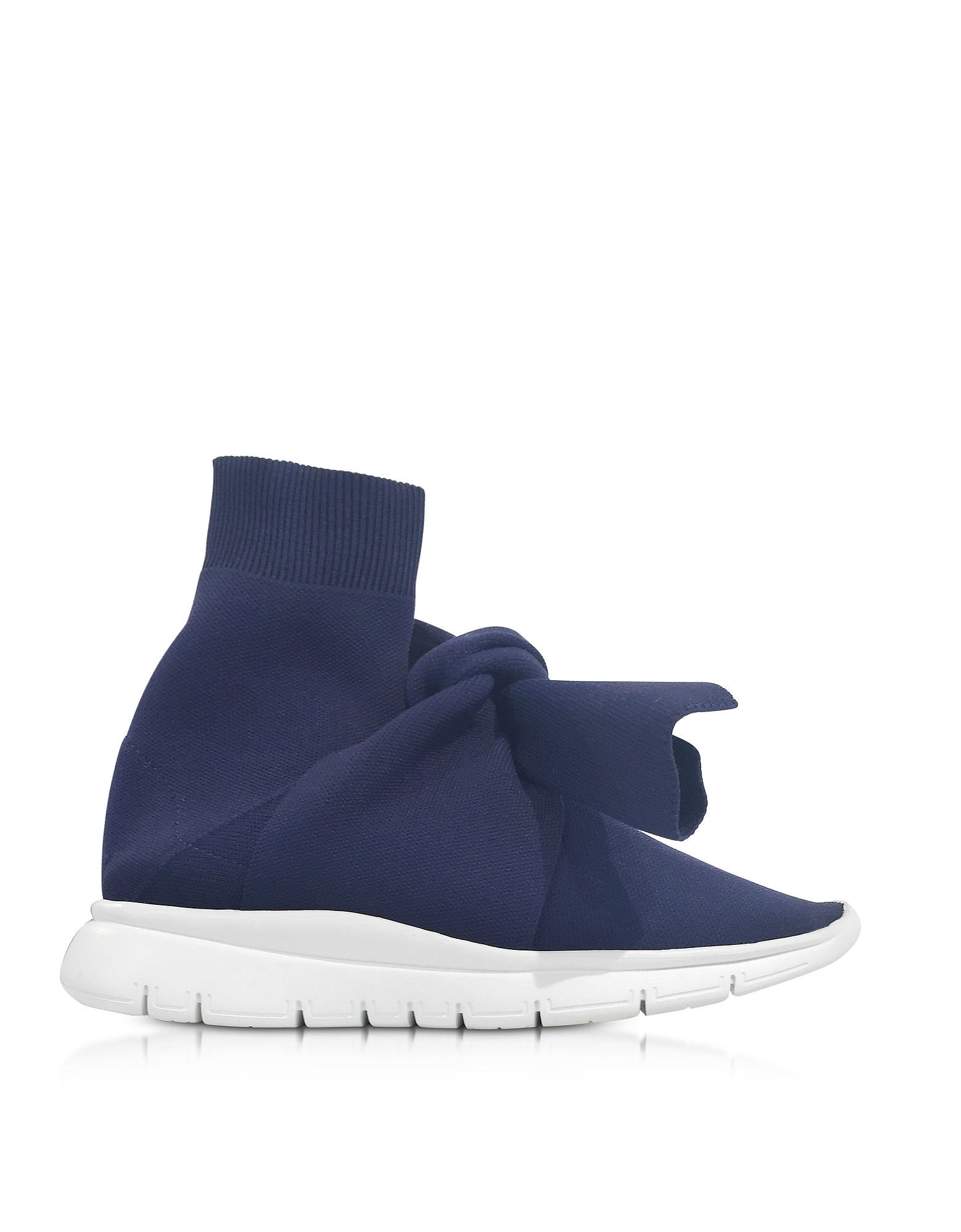 Joshua Sanders Shoes, Knot Blue Nylon Sock Sneakers