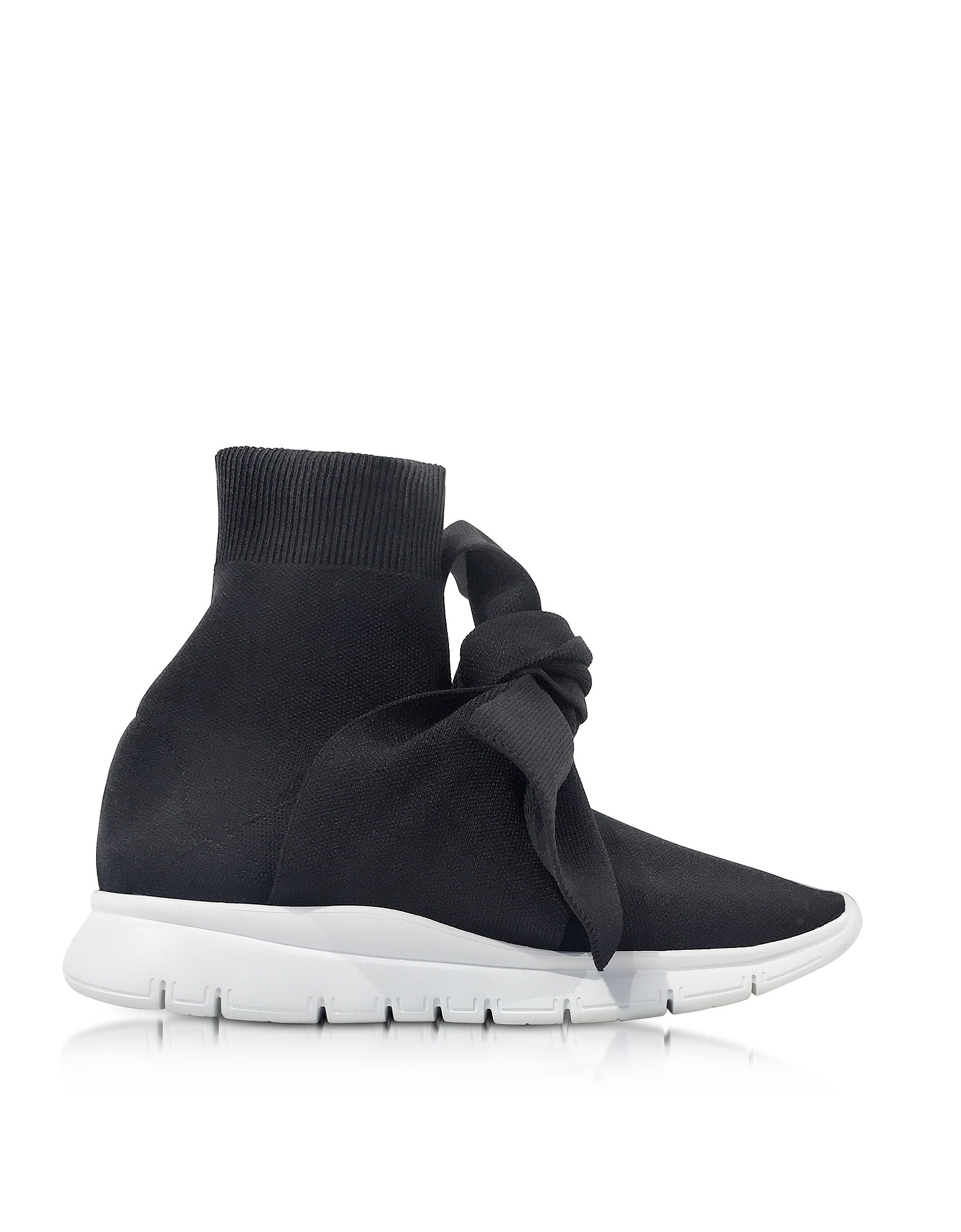Joshua Sanders Shoes, Knot Black Nylon Sock Sneakers