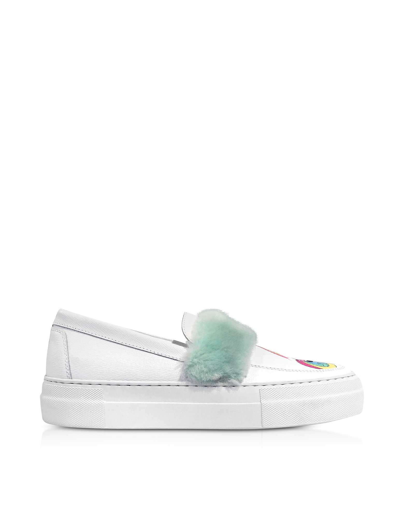 Joshua Sanders Shoes, My Little Pony Eco Fur Slip on Sneakers
