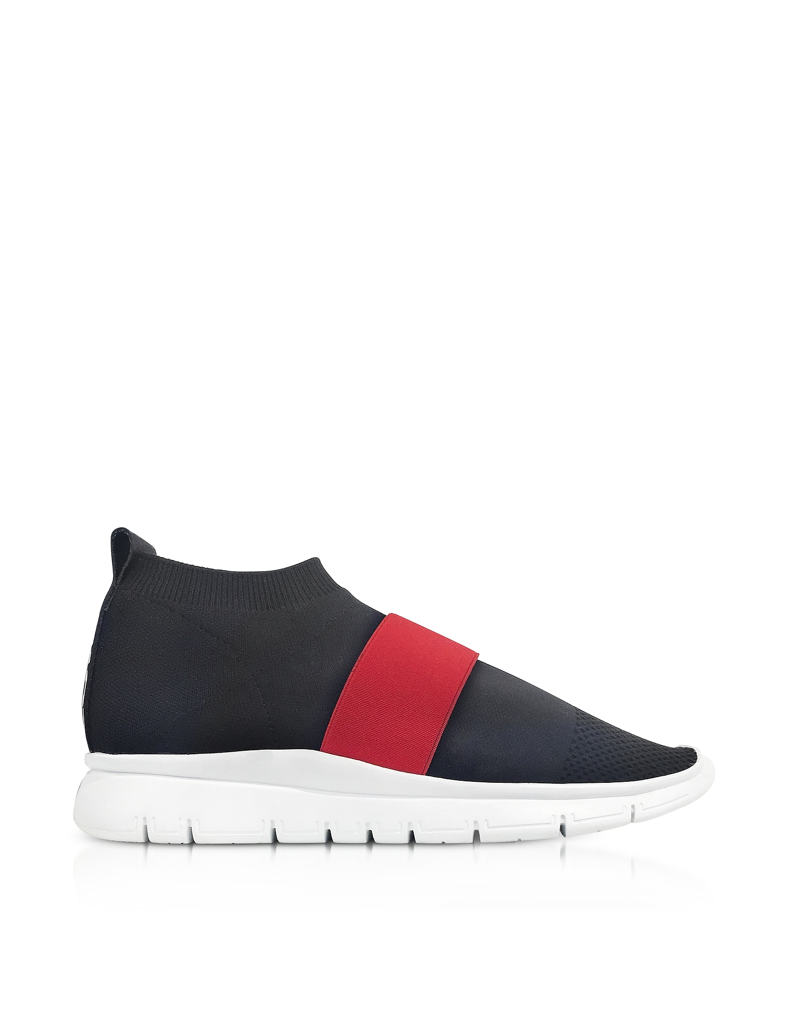 Joshua Sanders Shoes, Black Go High Nylon Sock Sneakers