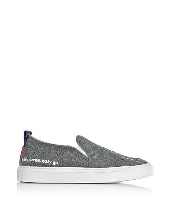 Joshua Sanders - Gray London Slip On Sneakers