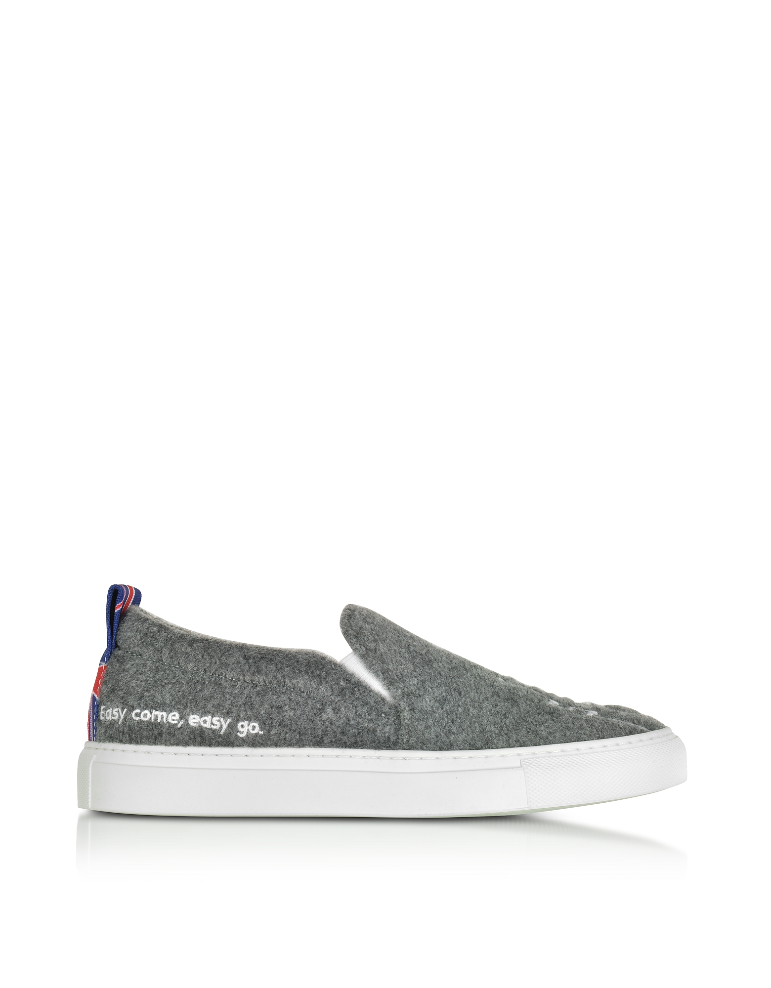 Joshua Sanders Shoes, Gray London Slip On Sneakers