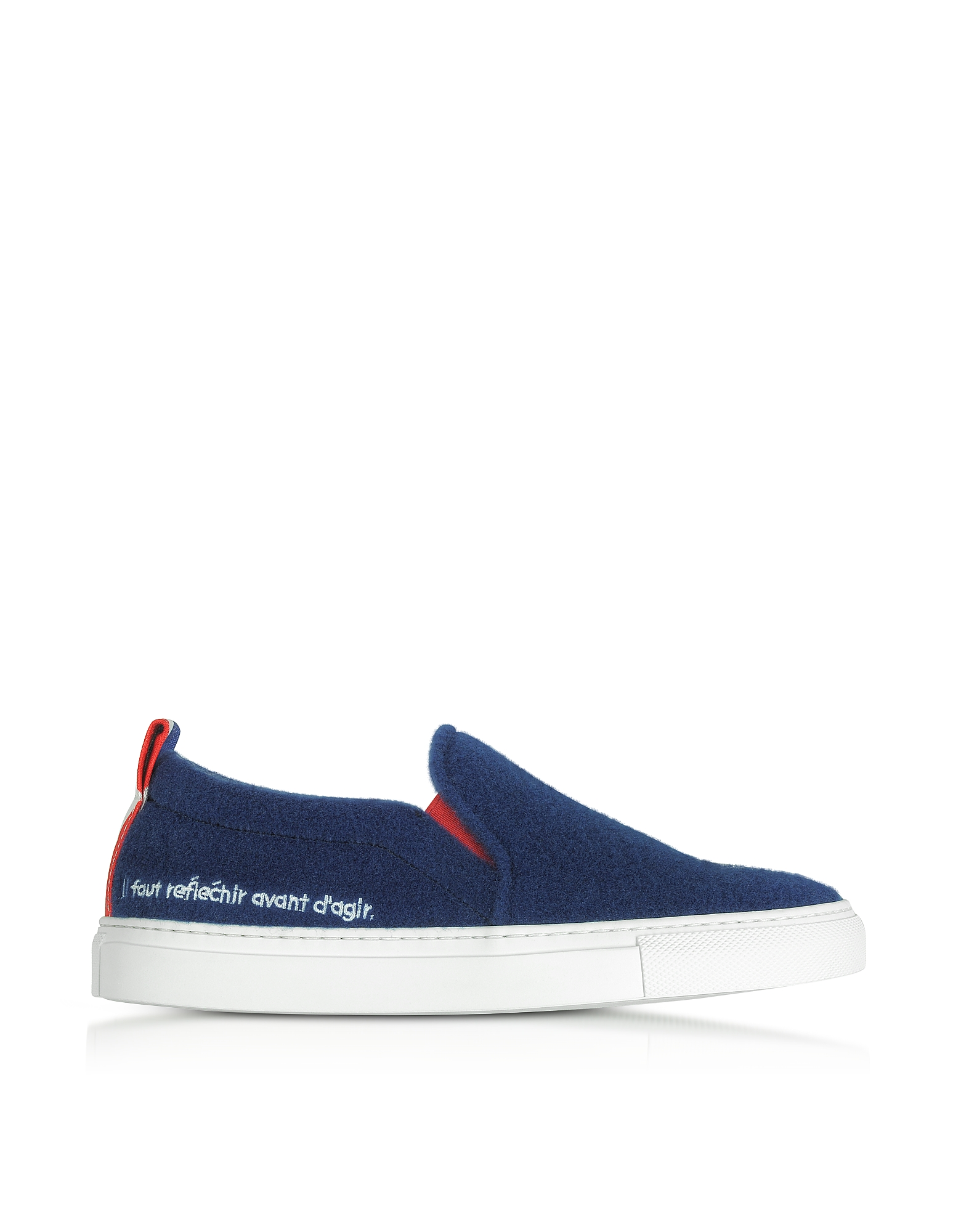 Joshua Sanders Shoes, Blue Paris Slip On Women's Sneakers