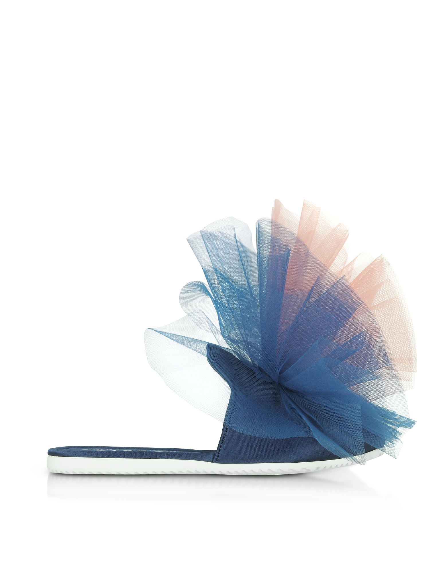 Joshua Sanders Shoes, Blue and Pink Tulle Mule