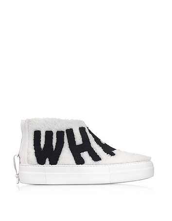 Joshua Sanders - Whatever White Synthetic Fur Sneaker