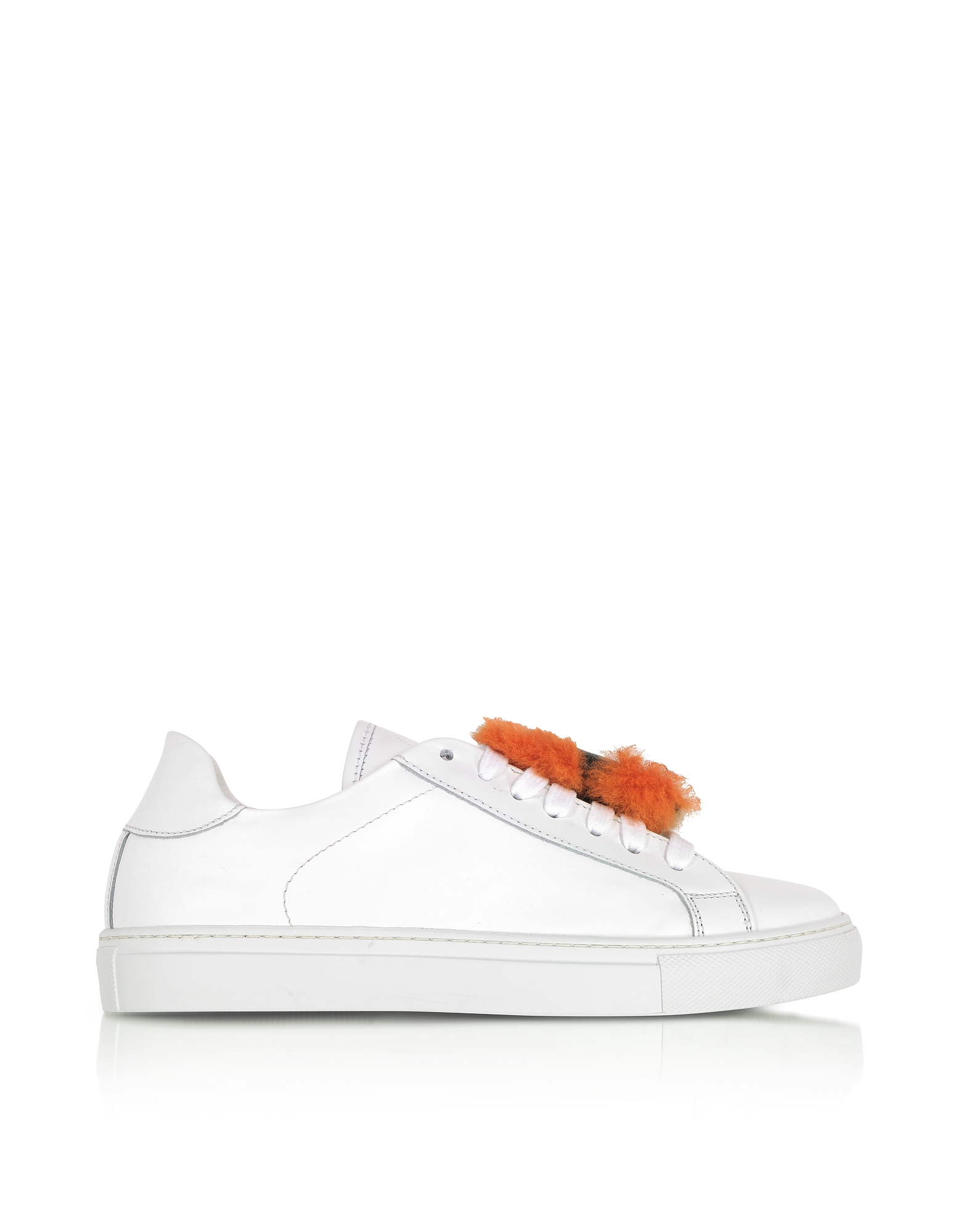 Joshua Sanders Shoes, Sushi White Leather Low Top Women's Sneakers