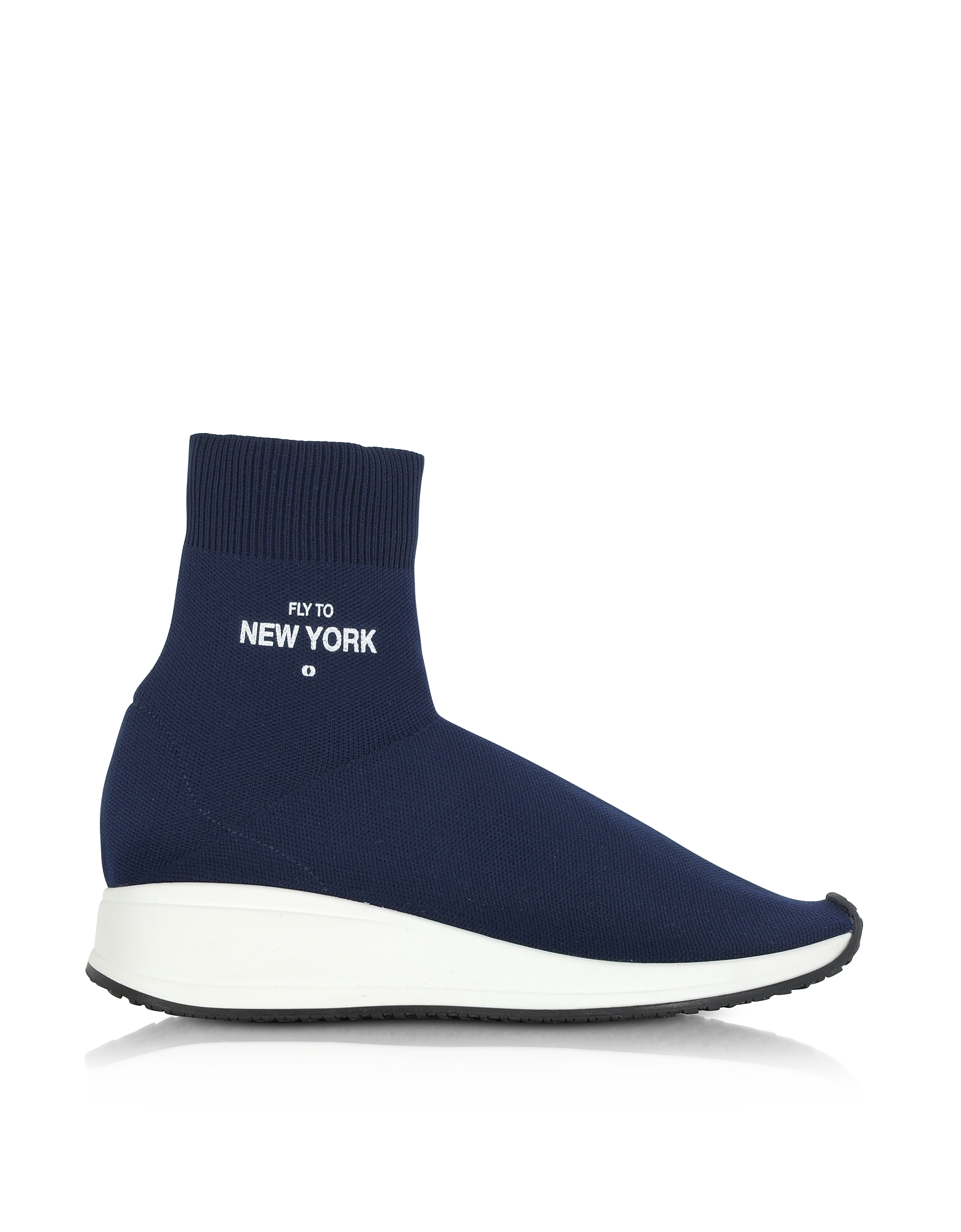 Joshua Sanders Shoes, Fly To New York Blue Nylon Sock Unisex Sneakers