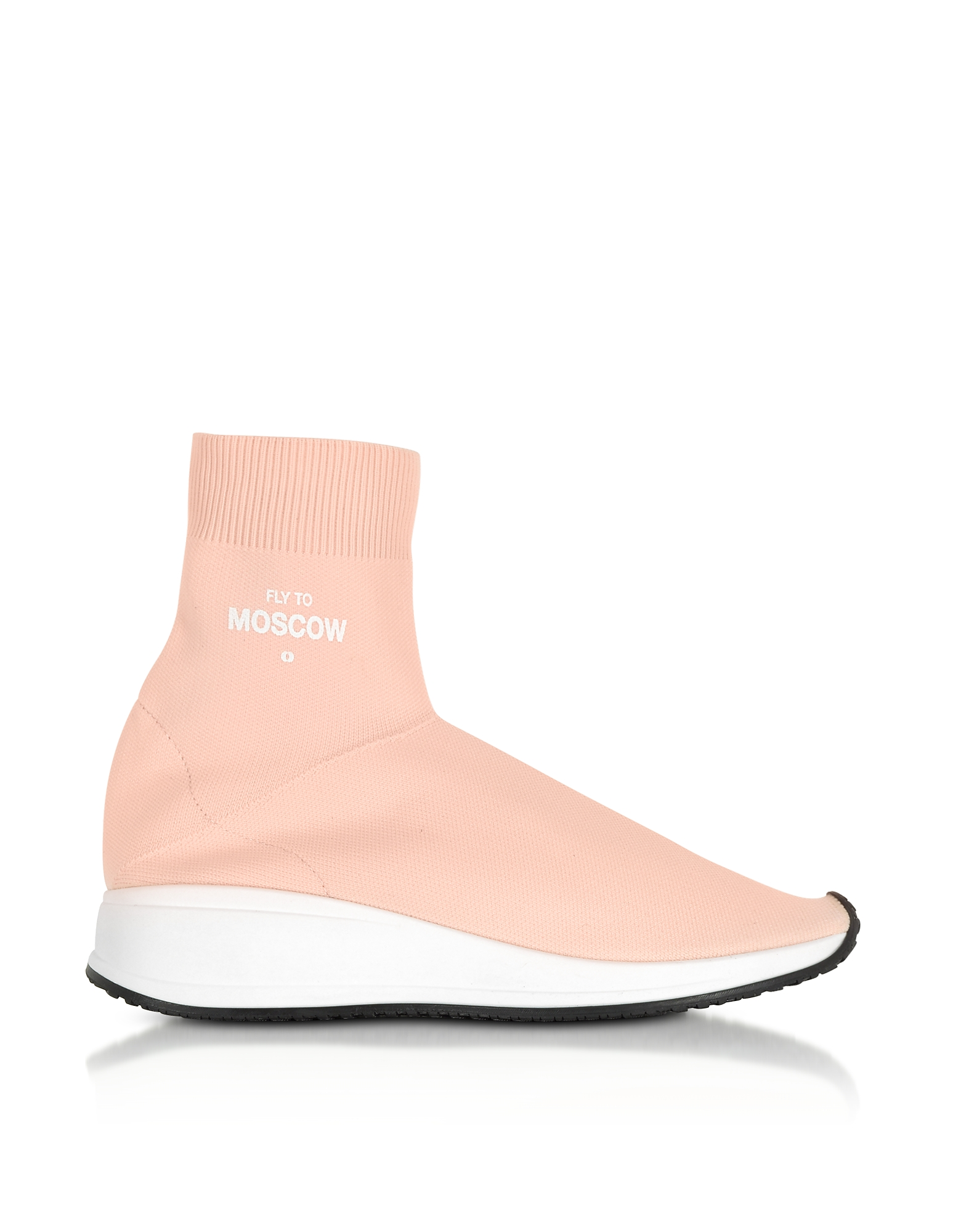 Joshua Sanders Shoes, Fly To Moscow Pink Nylon Sock Unisex Sneakers