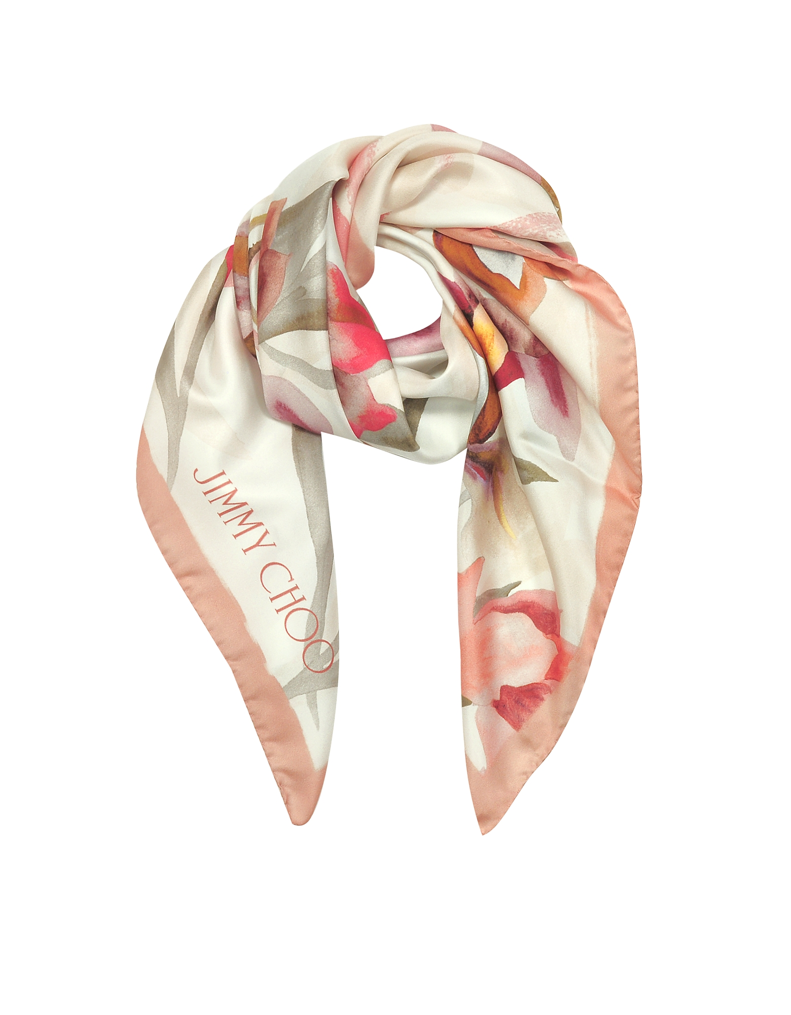 Ari Shoe and Floral Printed Silk Square Scarf