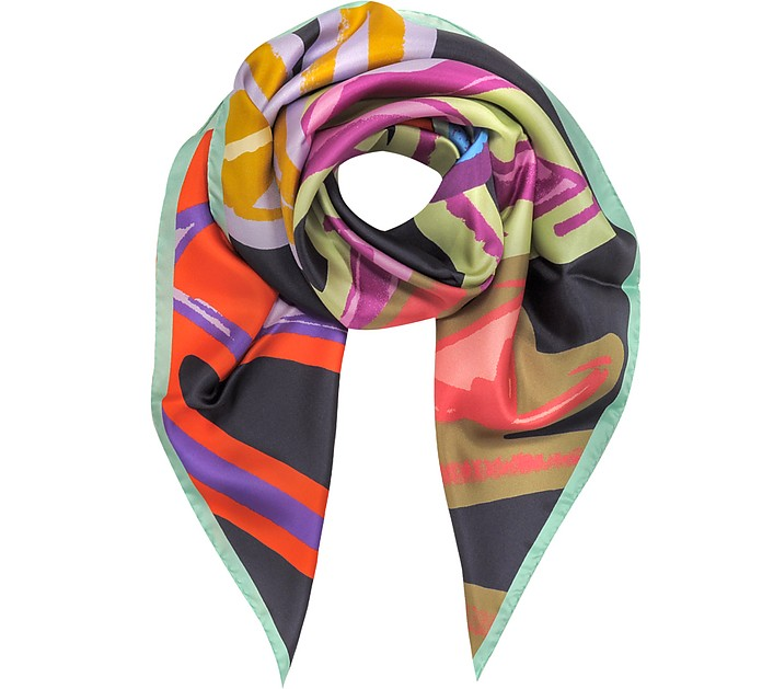 Shoes Printed Silk Square Scarf - Jimmy Choo
